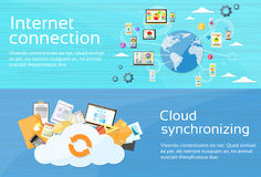 Internet Connection Cloud Synchronizing Computer Royalty Free Stock Images