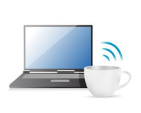 Internet connection coffee mug concept Stock Photography