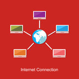 Internet connection concept illustration. File sharing Stock Images