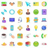 Internet connection icons set, cartoon style Stock Photography