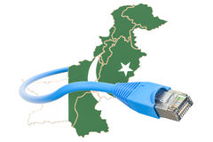 Internet connection in Pakistan concept. 3D rendering Royalty Free Stock Images