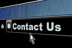 Internet Contact Us Concept. For a webpage Stock Photography