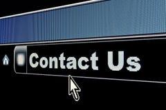 Internet contacteert ons Concept Stock Fotografie