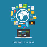 Internet content. Digital services. Multimedia services Royalty Free Stock Photography