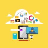 Internet contents illustration. Stock Photos