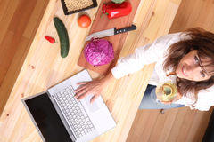 Internet Cooking Stock Photography