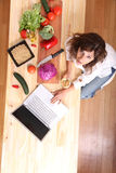 Internet Cooking Royalty Free Stock Image