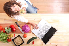 Internet Cooking Royalty Free Stock Photography