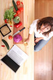 Internet Cooking Stock Image