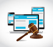 Internet copyright protection law illustration Stock Image