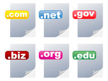 Internet country code Royalty Free Stock Photo