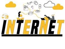 Internet creativo e la gente di concetto di parola che fanno le cose royalty illustrazione gratis
