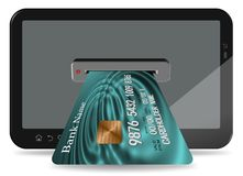 Internet credit card Royalty Free Stock Images