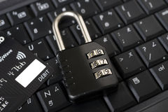 Internet Credit Card Security Stock Image