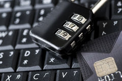 Internet Credit Card Security Stock Photo