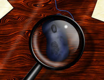 Internet Crime. Hi-Res Internet Crime Magnify Glass reveals fingerprints Stock Photos