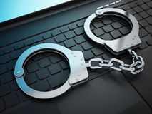Internet crime concept Stock Image