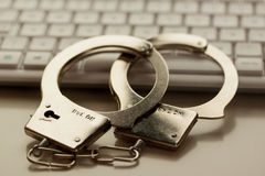 Internet crime stock image