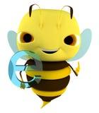 Internet d'abeille Photographie stock