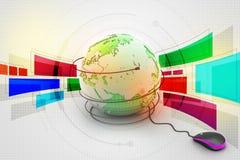 Internet 3d concept Stock Image