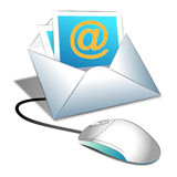 Internet d'email Photographie stock libre de droits