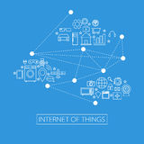 Internet d'illustration de choses (IoT) illustration libre de droits