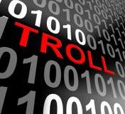 Internet-3d Teruggeven van Sleeplijn het Online Cyber Stalker stock illustratie