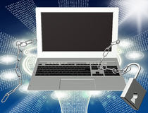 Internet da segurança Foto de Stock