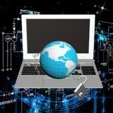 Internet da segurança Fotos de Stock
