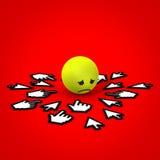 Internet, das trauriges Gesicht einschüchtert Lizenzfreie Stockbilder