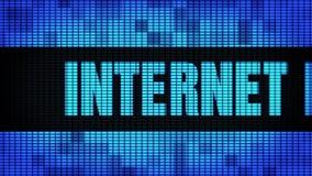 Internet, das Wand-Anzeigetafel-Zeichen-Brett Front Text Scrollings LED vermarktet stock video