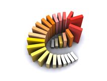 Internet Data Entry. The box are arranged forming letter E describe statistical data Stock Photography