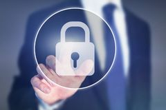 Internet data security concept, cybersecurity. Internet data security concept, digital lock stock images