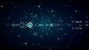 Internet-Daten tragen Blau vektor abbildung