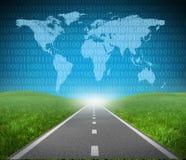 Internet-Datenbahn Stockbilder
