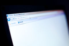 Internet-Datenbanksuchroutine Lizenzfreie Stockbilder