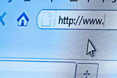 Internet-Datenbanksuchroutine Stockbild