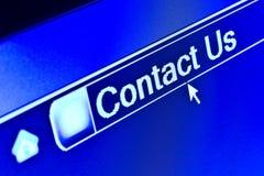 Internet-Datenbanksuchroutine bringen uns Konzept in Kontakt Stockfoto