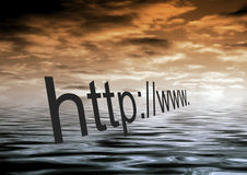 Internet dawn Royalty Free Stock Images