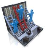 Internet-de bedrijfsconcurrentie Online bedrijfsconcept Stock Foto's