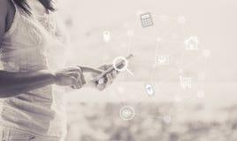Internet de communication Image libre de droits