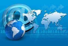 Internet de concept de fond Image libre de droits