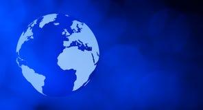 Internet-de donkerblauwe achtergrond van het wereldconcept Stock Foto's
