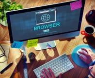 Internet-de Homepagebrowser van HTML Groot Gegevensconcept Stock Foto's