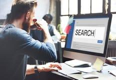Internet de la búsqueda hojea la información SEO Concept fotos de archivo libres de regalías