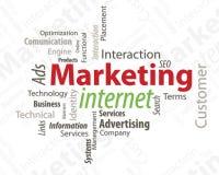 Internet de la comercialización de la tipografía ilustración del vector