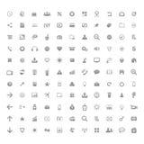 Internet de la muestra de los botones de los iconos del sitio web del negocio Imagen de archivo libre de regalías