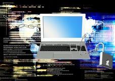 Internet de la seguridad Foto de archivo libre de regalías