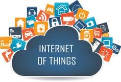 Internet de la tecnología de las cosas concepto y de ordenadores de la nube libre illustration