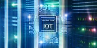 Internet de las cosas IoT Concepto de la tecnolog?a de red de Big Data Cloud Computing fotografía de archivo